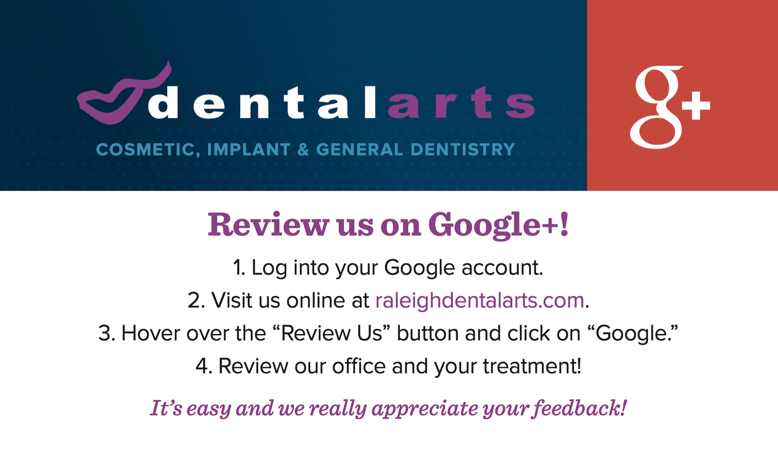 DentalArts-Google-Review-Card